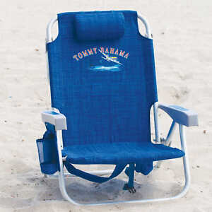 Blue Tommy Bahama Backpack Cooler Beach Chair New