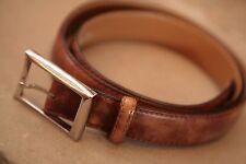 BERLUTI Cintura in Pelle Marrone Taglia 90 Fit 34 - 38