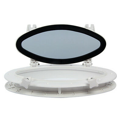"Black ABS Opening Portlight Porthole 16/"" X 8-5//8/"" Replacement Window AMPP1-03 US"