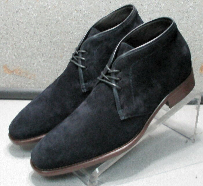 241937 MSBTi60 Men's Boots 9.5 M Navy Suede Made in  Johnston & Murphy