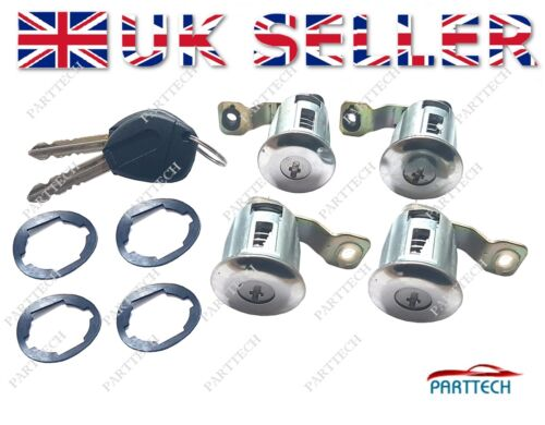 PEUGEOT PARTNER CITROEN BERLINGO Door Lock Barrels /& Keys LOCK SET 4 LOCKS