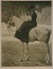 Angelo Jank Herren-Reiterin Jockey Schimmel Damen-Sattel Englischer Garten Pferd