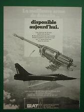 7/1987 PUB GIAT ARMEMENTS 30 MM CANNON 553 554 CANON MIRAGE 2000 ORIGINAL  AD