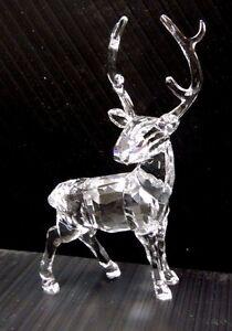 Stag 2015 xmas crystal reindeer deer christmas holiday - Swarovski stag figurine ...
