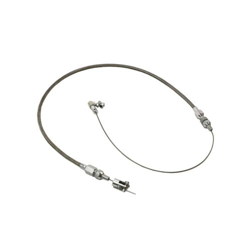 """Throttle Cable Wire Assembly 24"""" Universal Cut-To-Fit Stainless Braided Steel"""