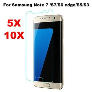 5-10Pcs-Ultra-Clear-HD-Screen-Protector-Film-For-Samsung-Note-5-S7-S6-Edge-S5-S3