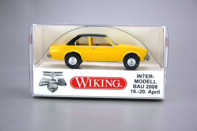 Wiking H0 1:87 Inter-Modellbau 2008 Opel Ascona B  gelb 0080 01 NEU OVP