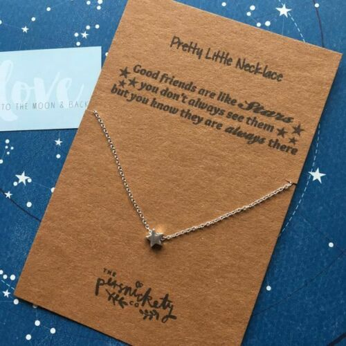 Good Friends Are Like Stars....Silver//Gold Necklace