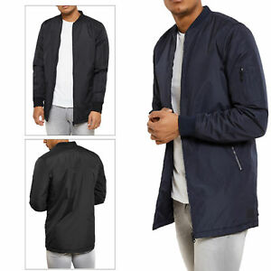 Mens-Threadbare-Bomber-Jacket-Quilted-MA1-Padded-Warm-Coat-Zip-Up-Military-LYNX