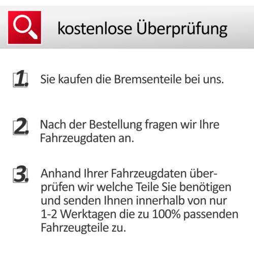 BELÄGE+WAKO BMW 1er E81 E87 E90-E93 ZIMMERMANN BREMSSCHEIBEN SET HINTEN Ø300