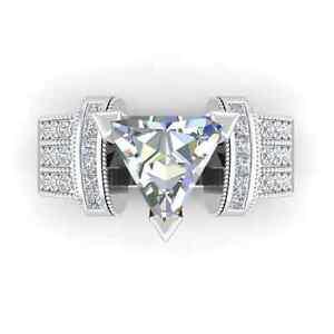 Fashion Women Princess Cut 2.55ct Blue Sapphire 925 Silver Ring Size 6-10