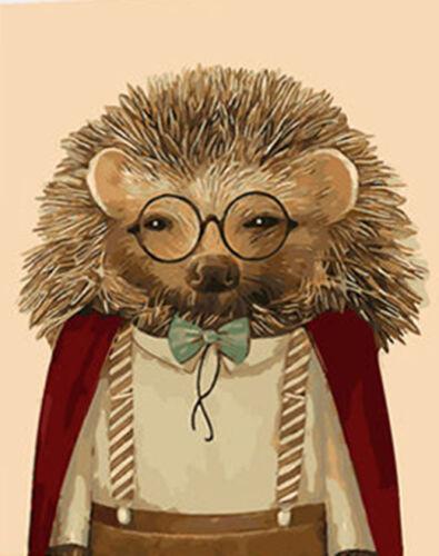 Portrait for a Cute Hedgehog Needlepoint Canvas 369
