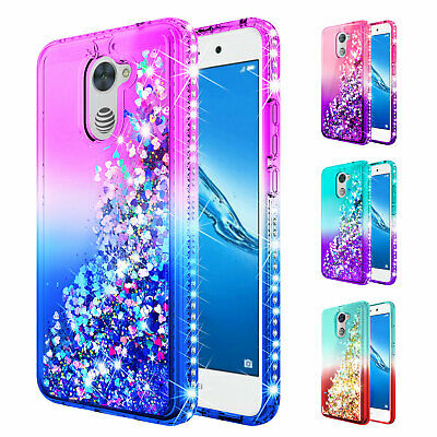 low priced 8e499 2e6f5 For Huawei Ascend XT2/Elate 4G | Glitter Liquid Bling Case Cover +Tempered  Glass | eBay