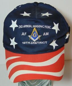 AMERICAN RED WHITE BLUE MASONIC LODGE PICNIC AF AM 13TH DISTRICT ... 025590fd3cee