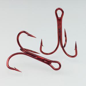 100pcs-Rouge-Hi-Acier-Carbone-peche-hamecons-Aiguises-Treble-Hooks-Tackle-pleine-taille