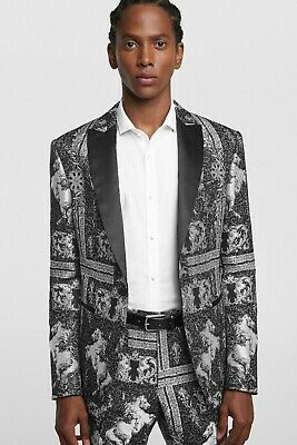 ZARA MAN Jacquard Costume Smoking Blazer REF.5796627 | eBay