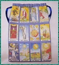 Blue Major Arcana Tarot card bag, ideal for fairy angel & Wicca tarot cards