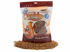 2lb Chubby Dried Mealworms for Birds Reptiles Poultry Sugar Gliders Fish 2lbs