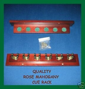 QUALITY-ROSE-MAHOGANY-Billiards-Snooker-034-CUE-RACK-034-2019