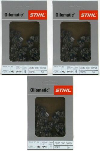 3617 000 0050 Vollmeißelkette x 3 * 35cm 3//8 1,3 TG 50 ps3 Picco Super Still