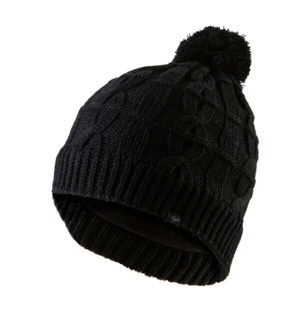 Sealskinz Waterproof Cable Knit Unisex Bobble Hat L xl Black ... 484b261a9615
