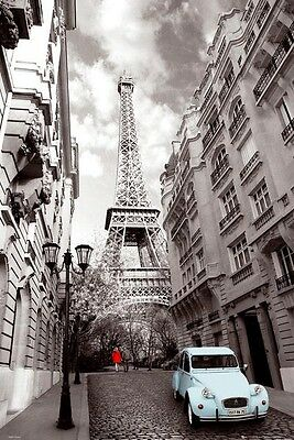 PARIS IN SEPIA POSTER NEW WALL ART 61X91CM
