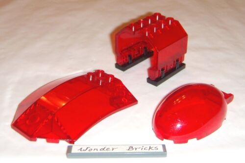 Lego Windscreen Canopy Transparent Red Oval Bubble /& Panels 70006 Spaceship