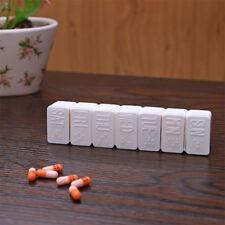 NUEVO 7 Día Caja Píldora Pastillero Medicina Tableta Almacenamiento Organizador