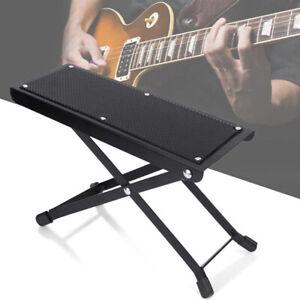 Guitarist Footstool Folding Guitar Foot Stool Rest Stand Adjustable Anti-slip JA