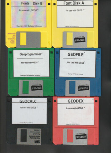 Four Commodore 64//128 GEOS Collection 3.5 inch Disks