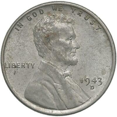 Free Shipping 1943 D UNCIRCULATED Steel Cent