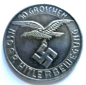 WW2-GERMAN-COMMEMORATIVE-COLLECTORS-50-GROSCHEN-COIN