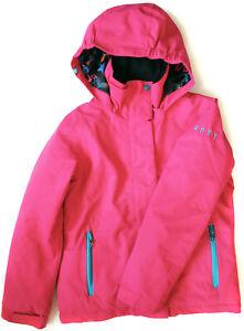 ROXY veste de ski imperméable TRÈS BON ÉTAT capuche manteau parka  fille 10 ans