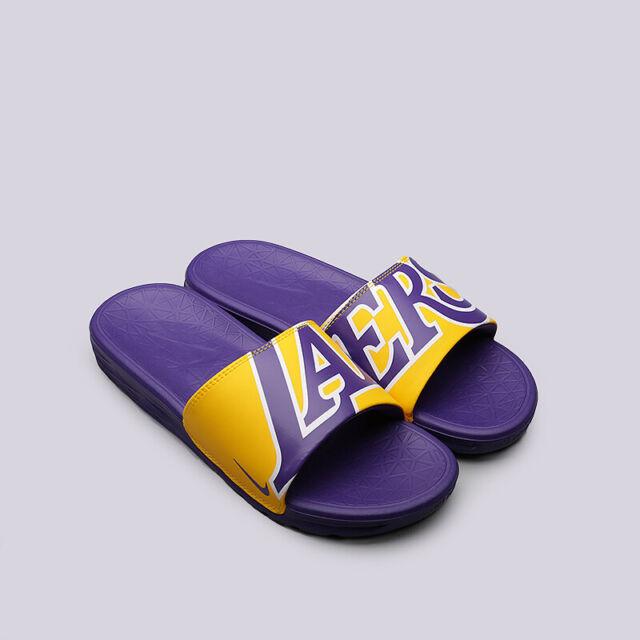 premium selection 66ef5 04512 Nike Benassi Solarsoft NBA Multi Size Los Angeles Lakers Slide Sandal  917551 700