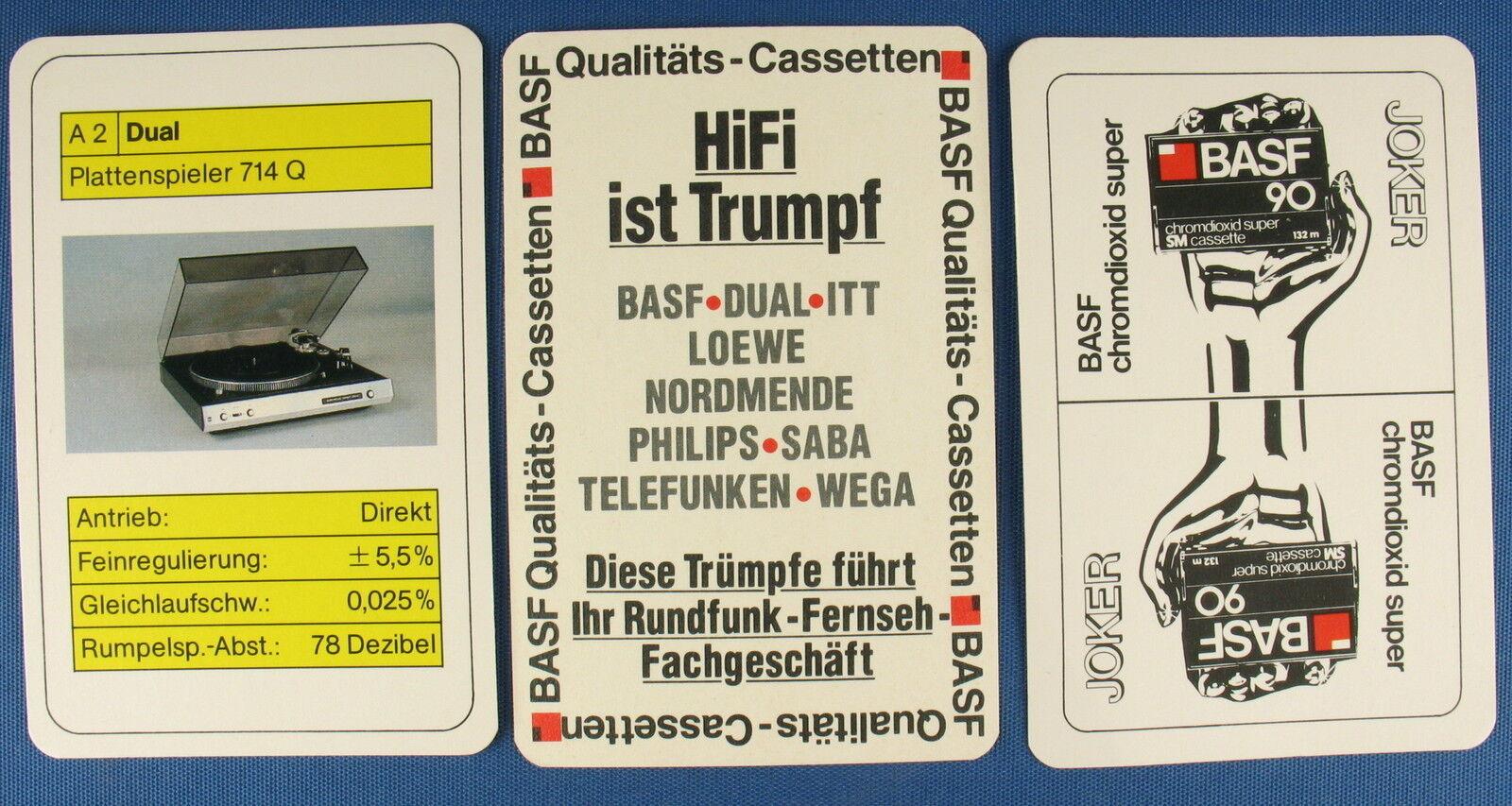 Quartett - BASF DUAL ITT - Werbequartett - LOEWE - NORDMENDE - PHILIPS SABA WEGA  | Charmantes Design