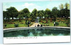 31a79b881dbff9 The Dutch Garden Van Cortlandt Park New York NY Vintage Postcard B23 ...
