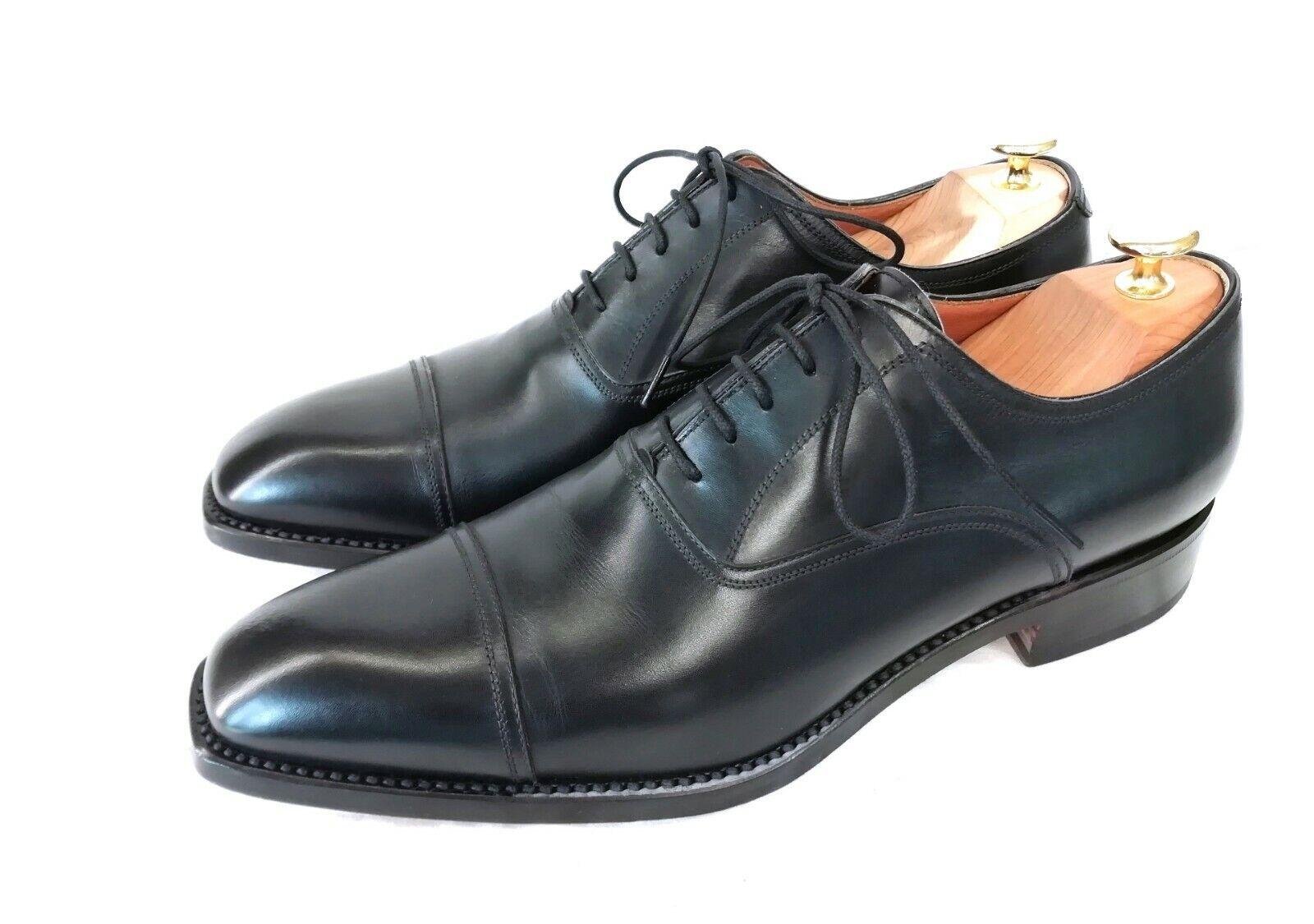 FRANCESCHETTI Luxuriöse Cap Toe Oxford Business Herrenschuhe Herrenschuhe Herrenschuhe Schwarz Leder Gr 43  erstklassiger Service