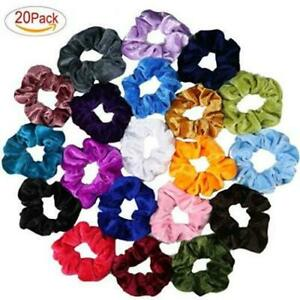 Image is loading Beauty-Works-20Pcs-Velvet-Scrunchies-Perfect-Hair-Ties- 63150ec4920