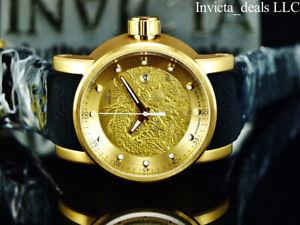 Invicta-Men-039-s-S1-Yakuza-Dragon-18K-Gold-IP-Automatic-NH35A-SS-Black-Strap-Watch