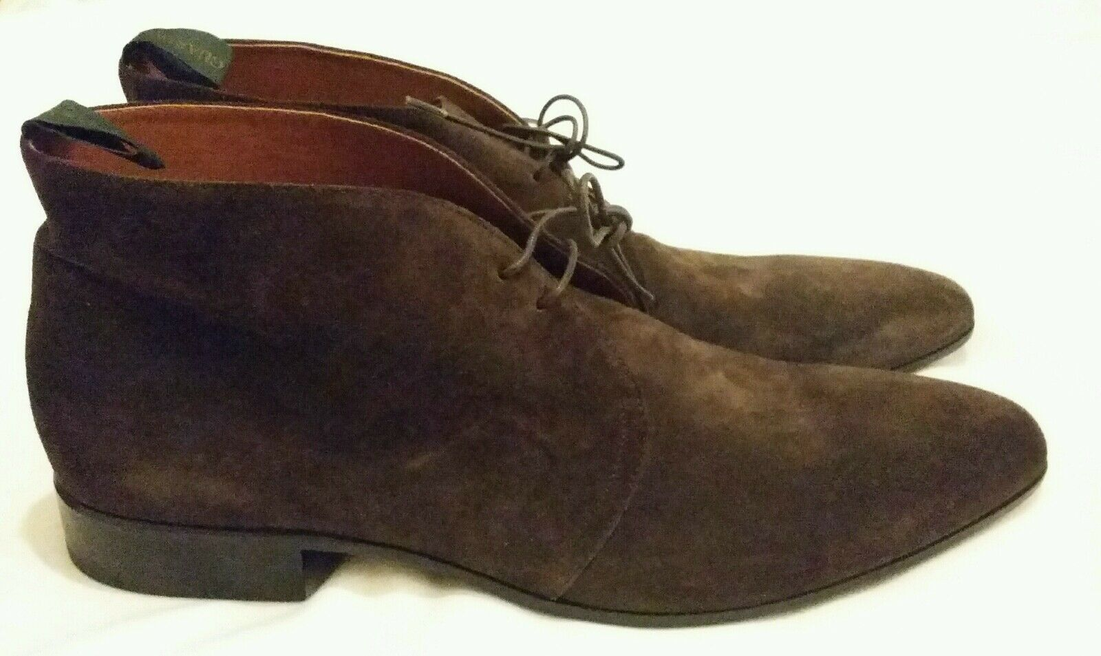 ALBERTO GUARDIANI SUEDE LACE-UP ANKLE schuhe braun Größe uk 10, eu 44
