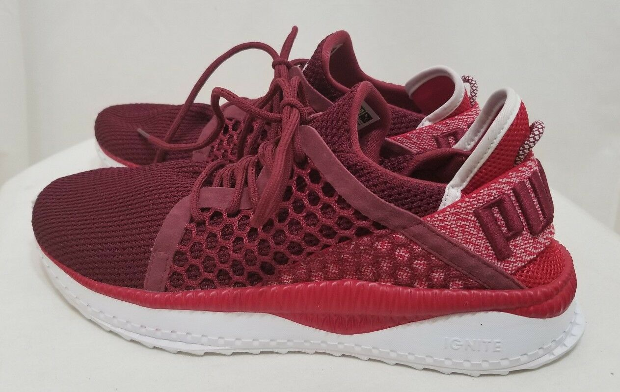 Puma Para hombres Zapatos Tenis Tsugi netfit Zapatillas Running Rojo Borgoña