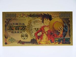 One piece gold metal coin-monkey d luffy-card ticket card figurine