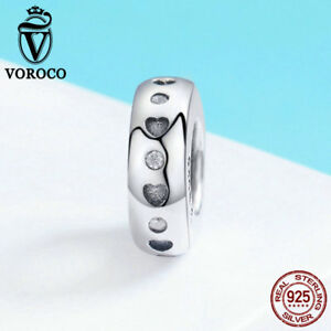 Voroco-925-Sterling-Silver-Nice-Pendant-Charm-New-Bead-Bracelet-Necklace-Jewelry