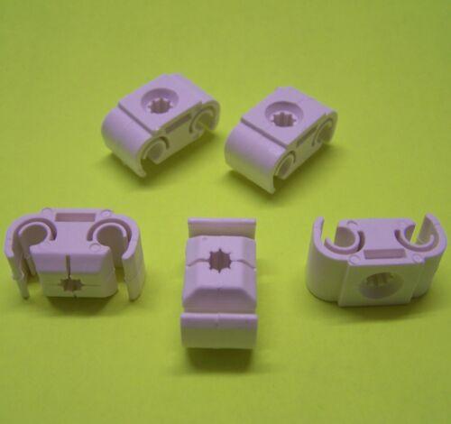 5 Halter doppelt Bremsleitung Halter Bremsleitungshalter 4,75 mm PKW Halterung