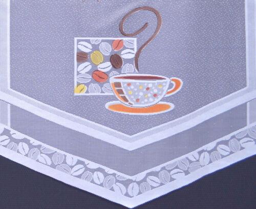 Küchengardine Scheibengardine 1 Teil von 50 cm Cappuccino Gardine Bistrogardine