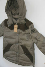 TRUE RELIGION BRAND Down Olive Down Contrast Puffer Jacket Coat Hoodie XXL Slim