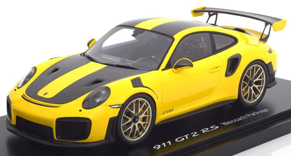 Spark Porsche 991 GT2 Rs Weissach Paquete Amarillo   Negro con Visor Le de 991