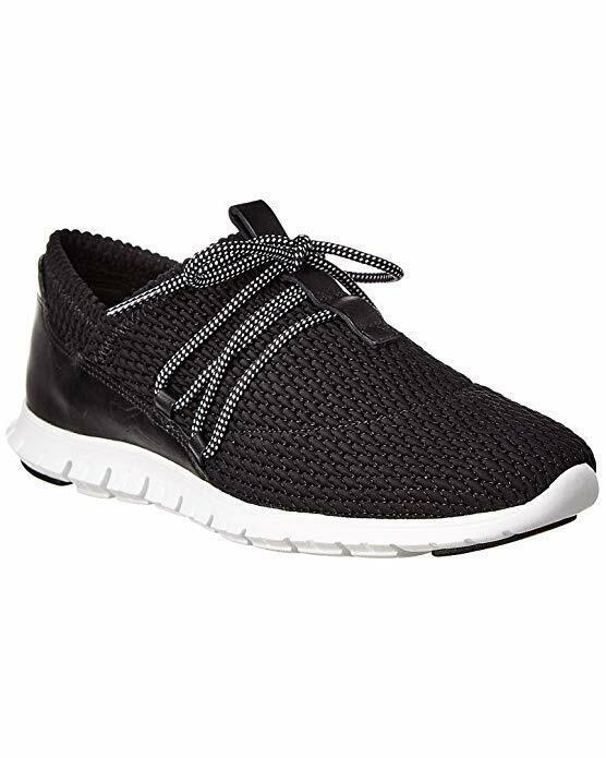 Cole Haan Para Mujeres Con Cordones Acolchado zerogrand Tenis Zapatos Negro 9 Nuevo En Caja
