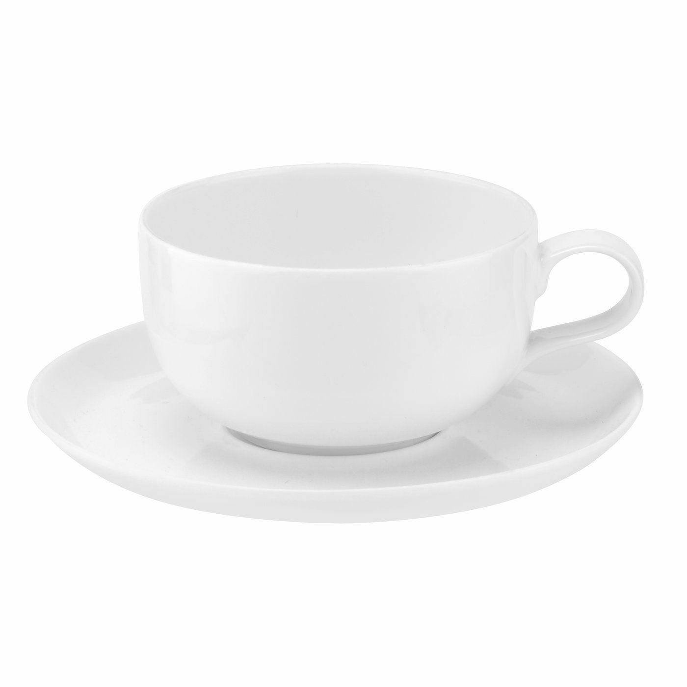 Portmeirion Choices White Teacup and Saucer (Pair) 0.34L