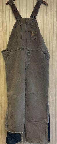 Vtg Carhartt Insulated Utility Double Knee Overall